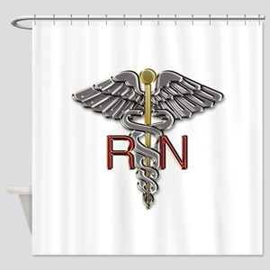 RN Medical Symbol Shower Curtain