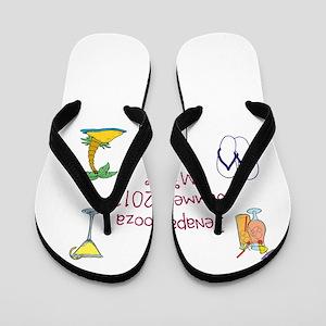 girls summer weekend Flip Flops