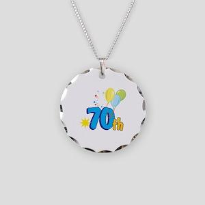 70th Celebration Necklace Circle Charm