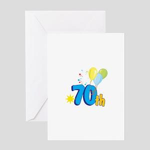 70th Celebration Greeting Card