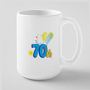 70th Celebration Large Mug