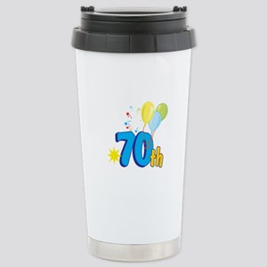 70th Celebration Stainless Steel Travel Mug
