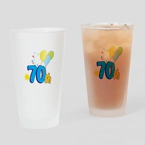 70th Celebration Drinking Glass