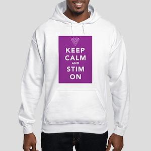 Keep Calm and Stim On (purple) Hooded Sweatshirt