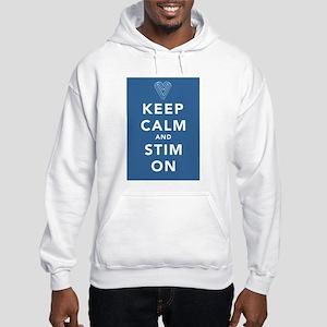 Keep Calm and Stim On (blue) Hooded Sweatshirt