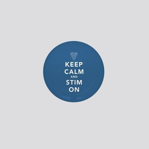 Keep Calm and Stim On (blue) Mini Button