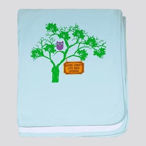 Cancer Doesn't Live Tree Owl baby blanket