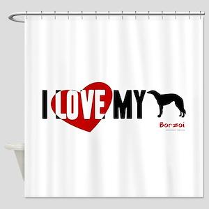 Borzoi Shower Curtain