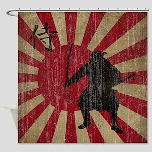 Vintage Samurai Shower Curtain