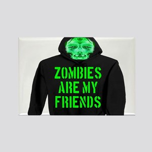 Zombies Are My Friends Rectangle Magnet
