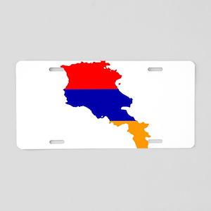 Armenia Flag and Map Aluminum License Plate
