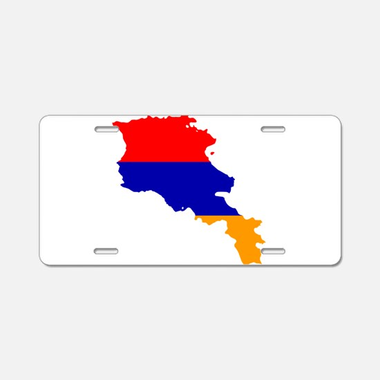 Armenia Flag and Map Aluminum License Plate