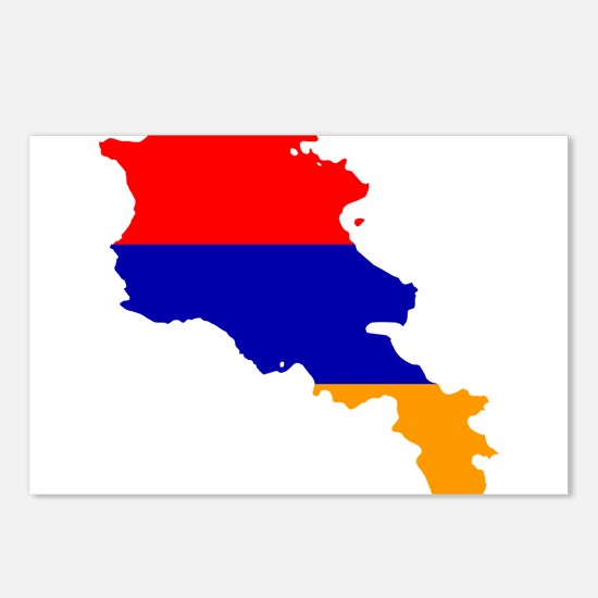 Armenia Flag and Map Postcards (Package of 8)