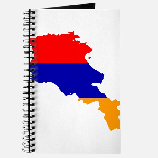 Armenia Flag and Map Journal