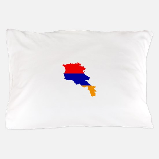 Armenia Flag and Map Pillow Case