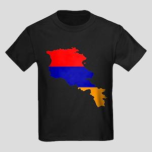 Armenia Flag and Map Kids Dark T-Shirt