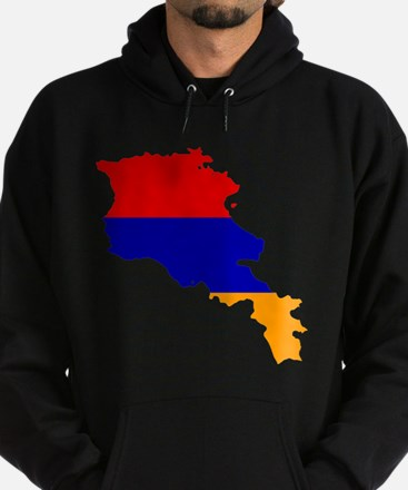 Armenia Flag and Map Hoodie (dark)