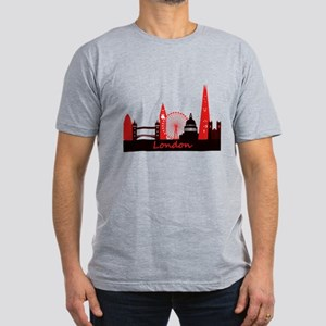 London landmarks tee 3cp Men's Fitted T-Shirt
