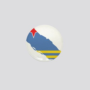 Aruba Flag and Map Mini Button