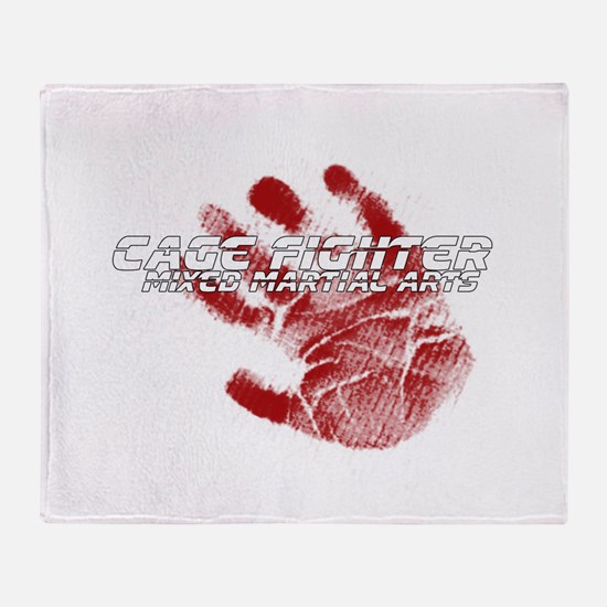 Cage Fighter Throw Blanket