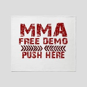 MMA Free demo Throw Blanket