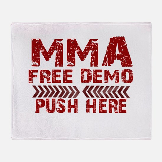 MMA Free demo Throw Blanket