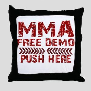 MMA Free demo Throw Pillow