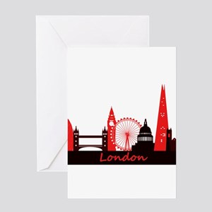 London landmarks tee 3cp Greeting Card