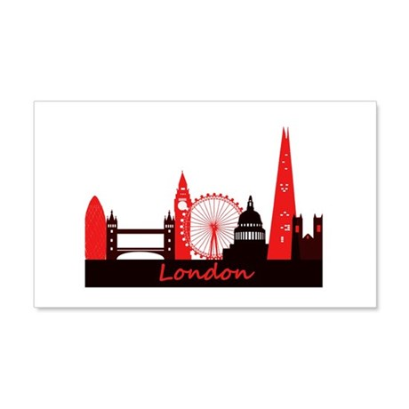 London Landmarks Tee 3cp.png Wall Decal
