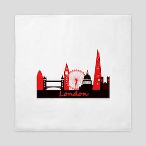 London landmarks tee 3cp Queen Duvet