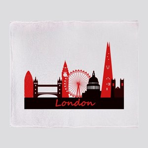 London landmarks tee 3cp Throw Blanket