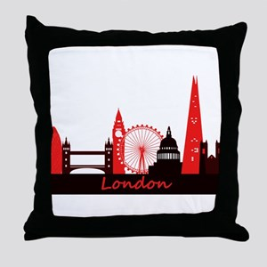 London landmarks tee 3cp Throw Pillow