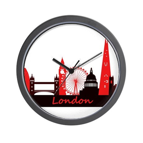 London landmarks tee 3cp.png Wall Clock