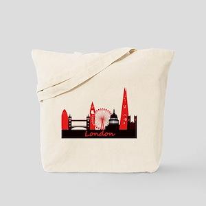 London landmarks tee 3cp Tote Bag