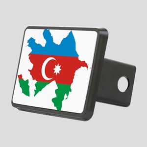 Azerbaijan Flag and Map Rectangular Hitch Cover