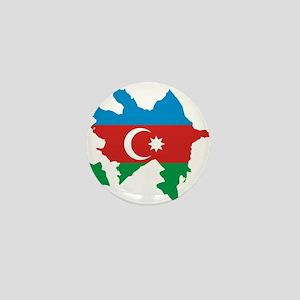 Azerbaijan Flag and Map Mini Button