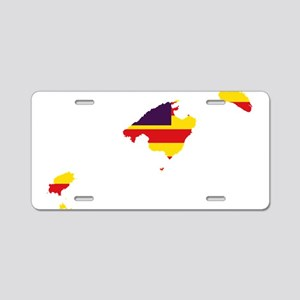 Balearic Islands Flag and Map Aluminum License Pla