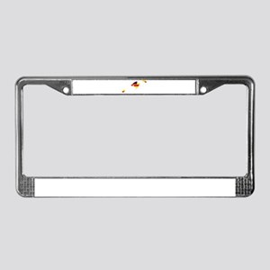 Balearic Islands Flag and Map License Plate Frame