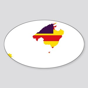 Balearic Islands Flag and Map Sticker (Oval)