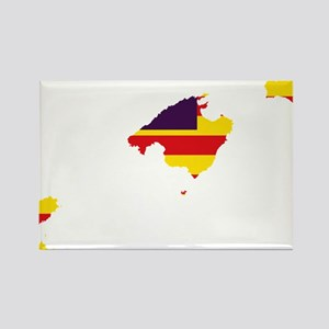 Balearic Islands Flag and Map Rectangle Magnet