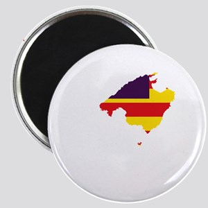 Balearic Islands Flag and Map Magnet