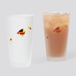 Balearic Islands Flag and Map Drinking Glass