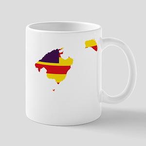 Balearic Islands Flag and Map Mug