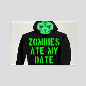 Zombies Ate My Date Rectangle Magnet