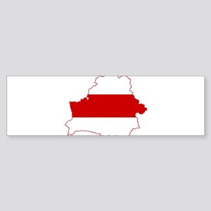 Belarus Flag and Map Sticker (Bumper)