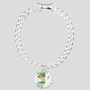 Belize Flag and Map Charm Bracelet, One Charm