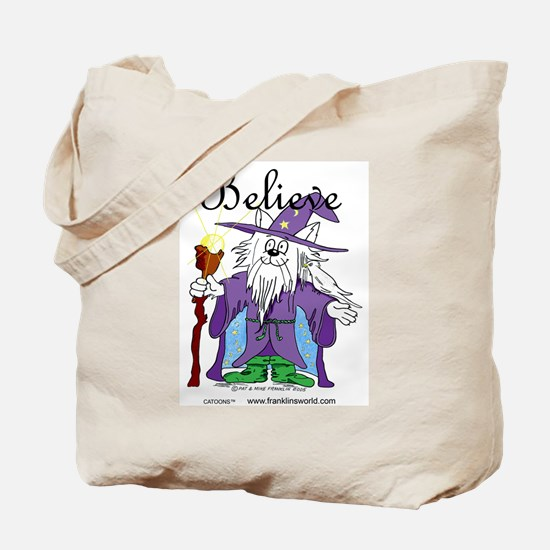 I Believe Cat Four Times.jpg Tote Bag