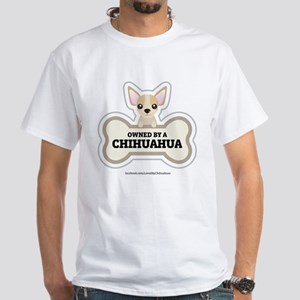 Owned by a Chihuahua White T-Shirt