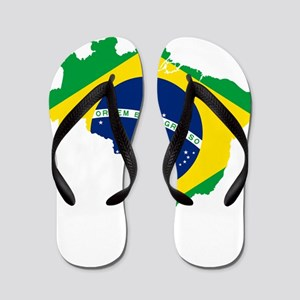 cf3a99e98 Flag Of Brazil Flip Flops - CafePress