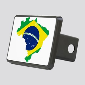 Brazil Flag and Map Rectangular Hitch Cover